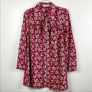 Glamorous | Red Floral Tunic Dress High Neck 10
